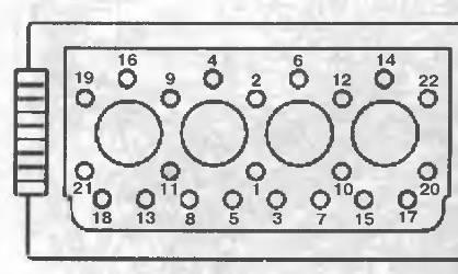 порядок затяжки прокладки головки fiat ducato 2,5d